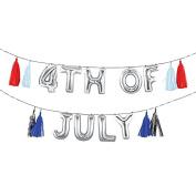 Meri Meri July 4th Red White Blue Silver Balloon Garland
