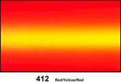 1 Roll 60cm X 300cm Graduated Red to Yellow to Red - # 412 Translucent / Rainbow Vinyl / Self Adhesive Vinyl Sheets / for Arts, Signs, Decals, Decoration, and more.