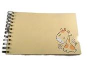 Blank Journal/scrapbook Album - Giraffe Zoo Friends