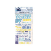 Reminisce H2O Rub-On Transfers, Water Park