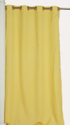 India House Outdoor/Indoor Curtain Panel with 8 Stainless Steel Grommets, 130cm by 240cm , Solid Canary