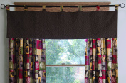 Carstens Cabin in The Woods Brown Quilt Valance Window Treatment Cabin in The Woods Quilt Valance Window Treatment