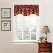 Traditions by Waverly Navarra Floral Window Valance Crimson