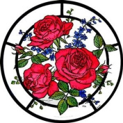 Static Window Clings in a Red Roses Design