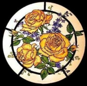 Static Window Clings in a Golden Roses Design