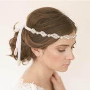Acxico® Luxury Bridal Wedding Jewellery Diamond Silk Hair Band