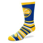 For Bare Feet Lotta-Stripe Youth Size 13, 1-5 Kids Socks (4-8 YRS) - Golden State Warriors