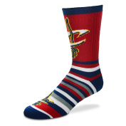 For Bare Feet Lotta-Stripe Youth Size 13, 1-5 Kids Socks (4-8 YRS) - Cleveland Cavaliers