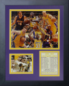 2010 Los Angeles Lakers NBA Champions 28cm x 36cm Framed Photo Collage by Legends Never Die, Inc.