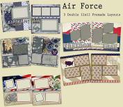 Air Force Scrapbook Kit - 5 Double Page Layouts