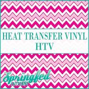 CHEVRON STRIPES PATTERN #5 HTV Pinks & White Heat Transfer Vinyl 30cm x 36cm Chevron for Shirts
