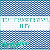 CHEVRON STRIPES PATTERN #1 HTV Royal Blue & White Heat Transfer Vinyl 30cm x 36cm Chevron for Shirts