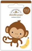 Doodlebug Designs Monkey Mike Doodle-Pops Dimensional Stickers
