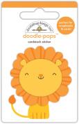 Doodlebug Designs Leo Lion Doodle-Pops Dimensional Stickers