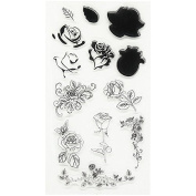 Beautiful flowers Design Silicone Transparent Stamp Clear Stamps Set for DIY Scrapbooking Photo Album Decoration Supplies