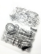 Earth Travelling Series Clear Rubber stamp for DIY Scrapbooking