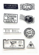 Postmark Stamp Series Clear Rubber stamp for DIY Scrapbooking
