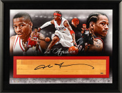 Allen Iverson Philadelphia 76ers Framed Autographed The Answer Collage Photograph with Game Used Floor Piece - Limited Edition of 30 - Upper Deck - Fanatics Authentic Certified