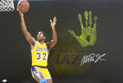 Magic Johnson Hand Print Stretched Canvas Layup - Signed - Authenticated - JSA Certified - Autographed NBA Art