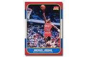 "Michael Jordan Autographed ""Fleer Rookie Card"" 12.5x17.5 Blow Up Print - Unframed"