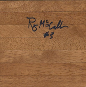 Ray McCallum Signed 6x6 Floorboard Detroit Titans C - Autographed NBA Floor Boards