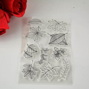 Leaves Clear Transparent Stamp DIY Scrapbooking/Card Making/Christmas Decoration Supplies K0050