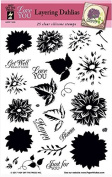 HOTP Clear Stamps - Layering Dahlias - Silicone Stamps HOTP1229