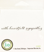 Impression Obsession IO Sentiment - Heartfelt Sympathy - Cling Mounted Red Rubber Stamp C13521