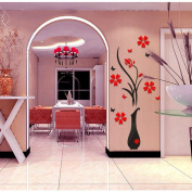 ZOMUSA Wall Stickers, Hot sell !! 3D Vase Flower Removable Wall Vinyl Decal Art Home Decor Wall Sticker House Decorated Background