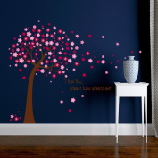 ZOMUSA Wall Stickers, Hot sell !! Pink Sakura Flower Cherry Blossom Tree Removable Wall Sticker Room Decals House Decorated Background