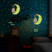 ZOMUSA Wall Stickers,Luminous Wall Sticker Home Decor Glow In The Dark Star Decal Baby Kid Room A House Decoration Background