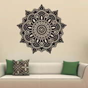 ZOMUSA Wall Stickers, Mandala Flower Indian Bedroom Wall Decal Art Stickers Mural Home Vinyl Family 3D House Decoration Background Decorated Decal Home Decor