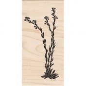 Tall Flowering Grass Rubber Stamp