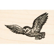 Flying Owl Rubber Stamp