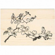 Floral Branch Rubber Stamp Flowering Tree Branch