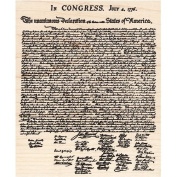 Declaration of Independence Rubber Stamp Patriotic