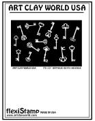 FlexiStamps Texture Sheet Antique Keys Inverse Design - 1 pc.