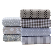 Grey Series Cotton Fabric Quilting Patchwork Fabric Fat Quarter Bundles Fabric For Sewing DIY Crafts Handmade Bags Pillows 40X50cm 7pcs/lot