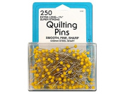 Collins Quilting Pins 4.4cm Yellow Head 250pc