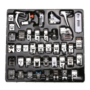 WElinks 42pcs Professional Sewing Machine Presser Feet Set,Multifunction Domestic Walking Foot Presser Foot Space Parts Accessories for Brother, Babylock, Singer, Janome, Kenmore