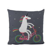 Butter Kings Unicorn with A Bike, multicolour