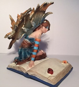 Libriana Large Detailed Fairy Figurine Reading Book
