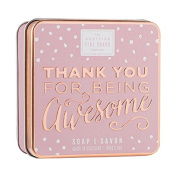Scottish Fine Soaps Thank You Being Awesome Soap Tin 100g