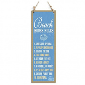 Rustic Style Signs Beach House Rules Decorative Sign Blue