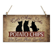 Gift For Cat Lovers Cat Decorative Sign With 3 Lovely Cats Decor