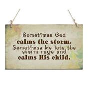 Primitive Signs Sometimes God Calms The Storm Hanging Sign