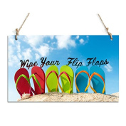 Rustic Plaque Wipe Your Flips Flops Chalkborard Sign Perfect For Home Decor