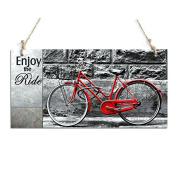 Rustic Signs Enjoy The Ride Decorative Sign With Bicycle Decor