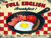 FULL ENGLISH BREAKFAST SIGN RETRO METAL TIN WALL PLAQUE SIGN NOVELTY GIFT CAFE