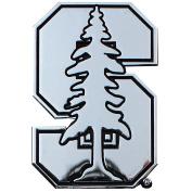 Stanford Cardinals Chrome Solid Metal Team Logo Auto Emblem